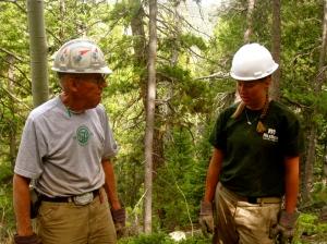 Corpsmeber & Park Ranger in Woods