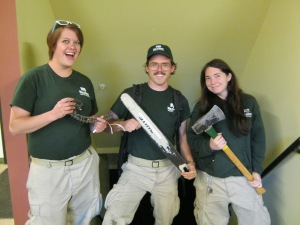 Katie, Patrick and Jordan are the RidgeRunner assistant crew leaders