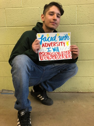 """Faced with adversity, I will persevere."" - James"